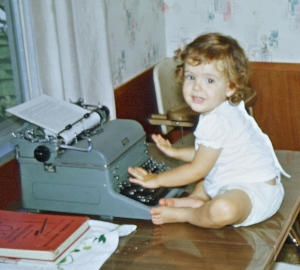 Hard at work on my first novel.